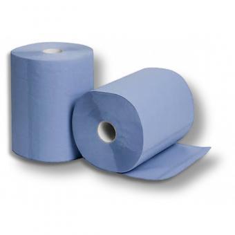 Putzrolle Blau Groß 2-lagig